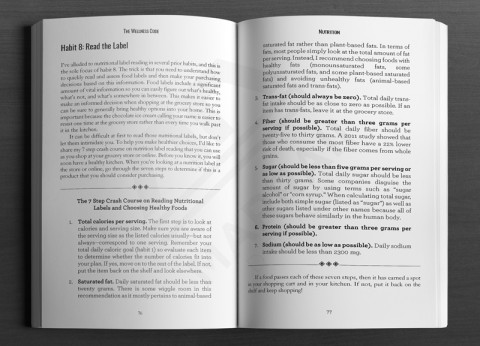 Print Layout: Non-fiction numbering sample