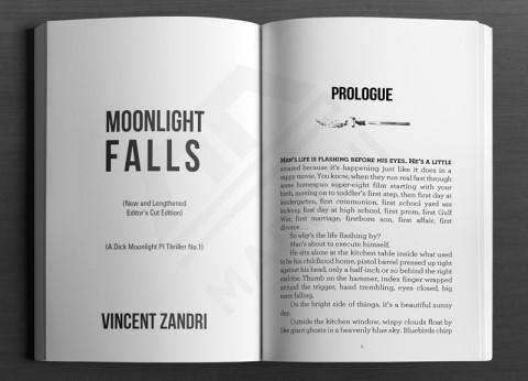 Print Layout: Fiction Title & Prologue page sample