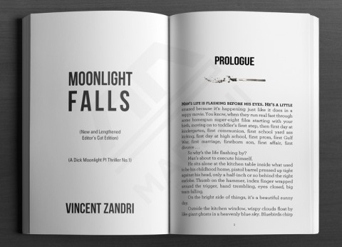 Print Layout: Fiction Title & Prologue page sample