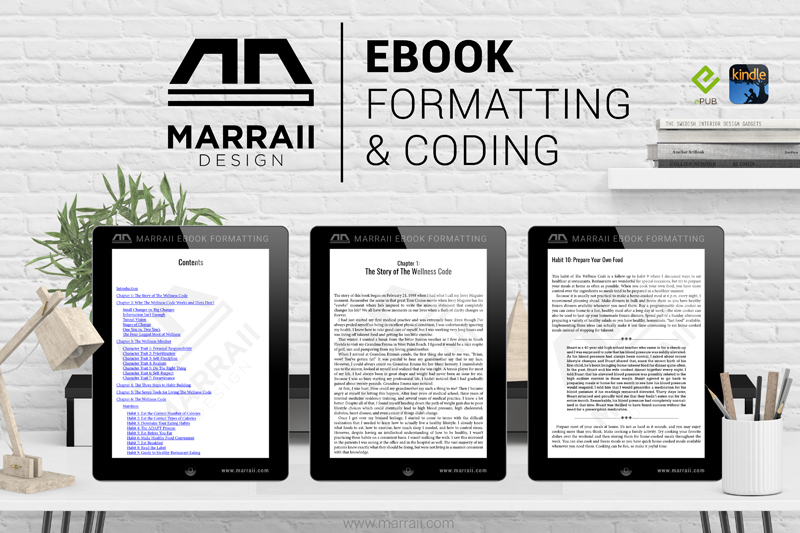 Ebook formatting and coding by Marraii Design