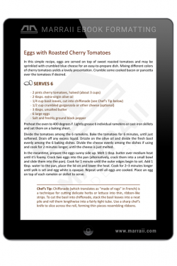 Epub Formatting – Cookbooks – Marraii Design