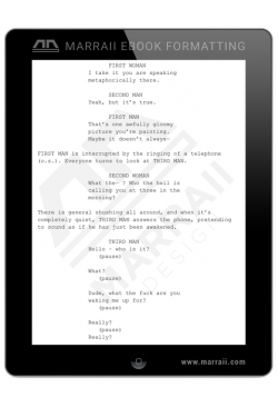 Epub Formatting – Screenplays – Marraii Design