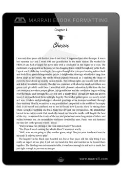 Epub Formatting – Fiction – Marraii Design