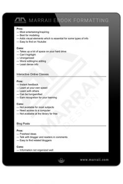 Epub Formatting – Lists – Marraii Design