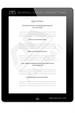 Epub Formatting – Special Pages – Marraii Design
