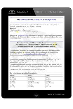 Epub Formatting – Tables – Marraii Design