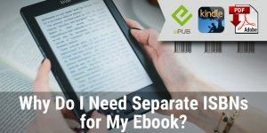 Separate ebook ISBNs
