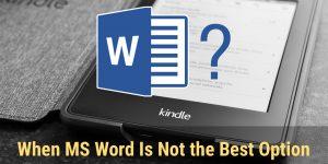 MS Word Smashwords Kindle Formatting