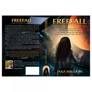 Freefall IngramSpark Paperback Cover Design by Marraii