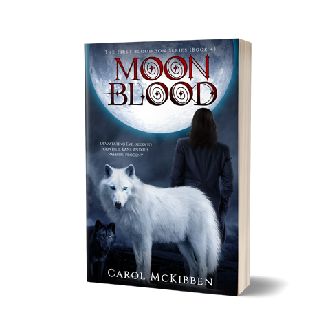 MoonBlood Book Cover Design by Marraii